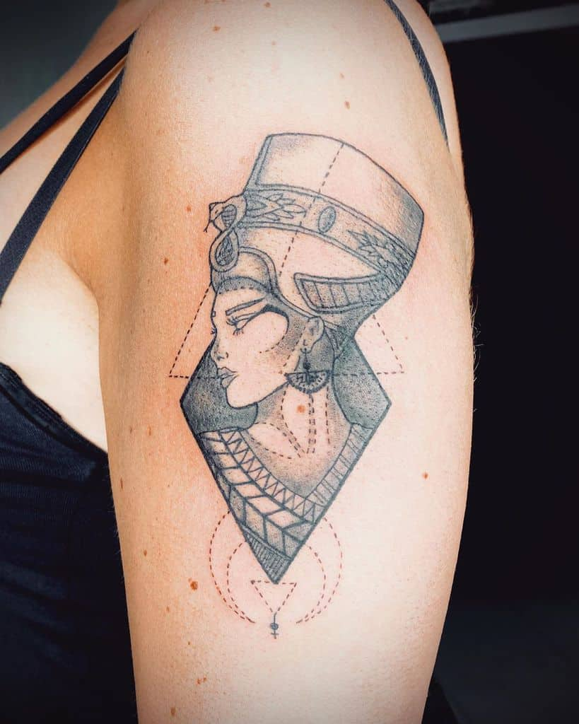 Arm Sleeve Nefertiti Tattoos Donmatteo38.ink