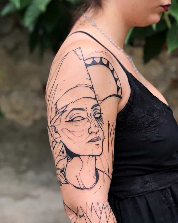 Arm Sleeve Nefertiti Tattoos Martina Perlo