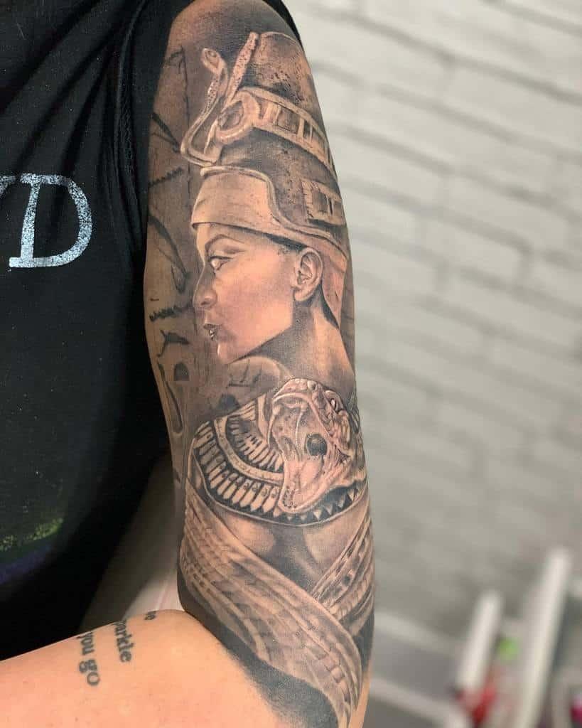 Arm Sleeve Nefertiti Tattoos Miss Isab