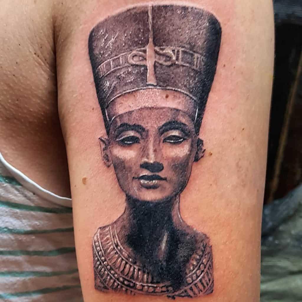 Arm Sleeve Nefertiti Tattoos Redbeard Tattoostudio Ensheim