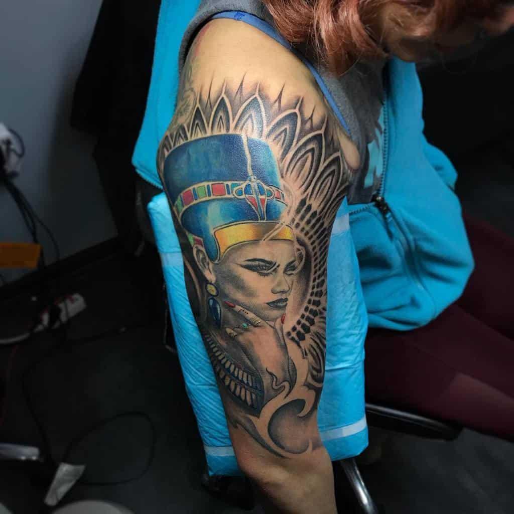 Arm Sleeve Nefertiti Tattoos Tattoos By Yulia