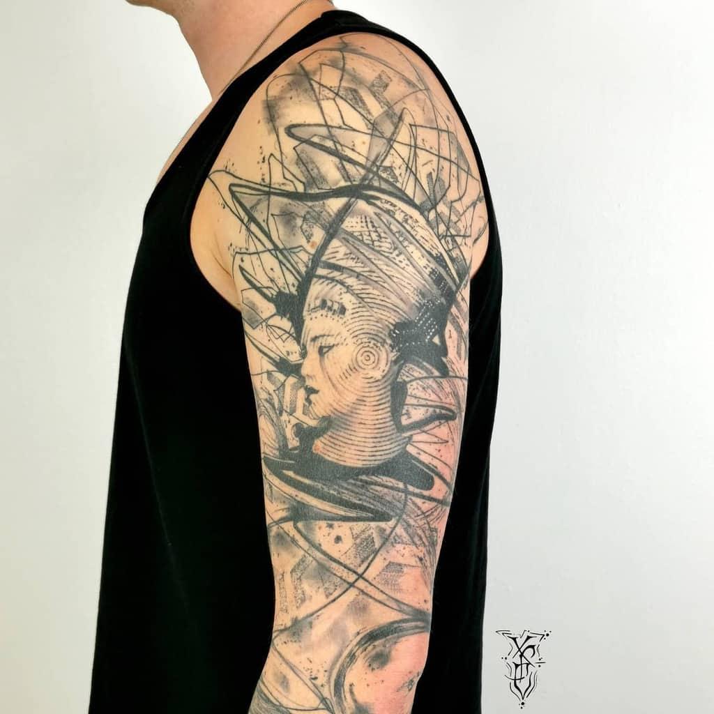 Arm Sleeve Nefertiti Tattoos X.p.electron Tattoo