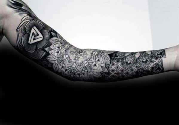 Arm Sleeve Remarkable Penrose Triangle Tattoos For Males
