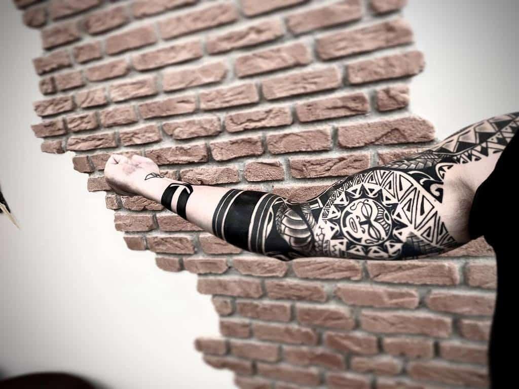 Arm Sleeve Tiki Tattoo Conrado Levy Tattoo