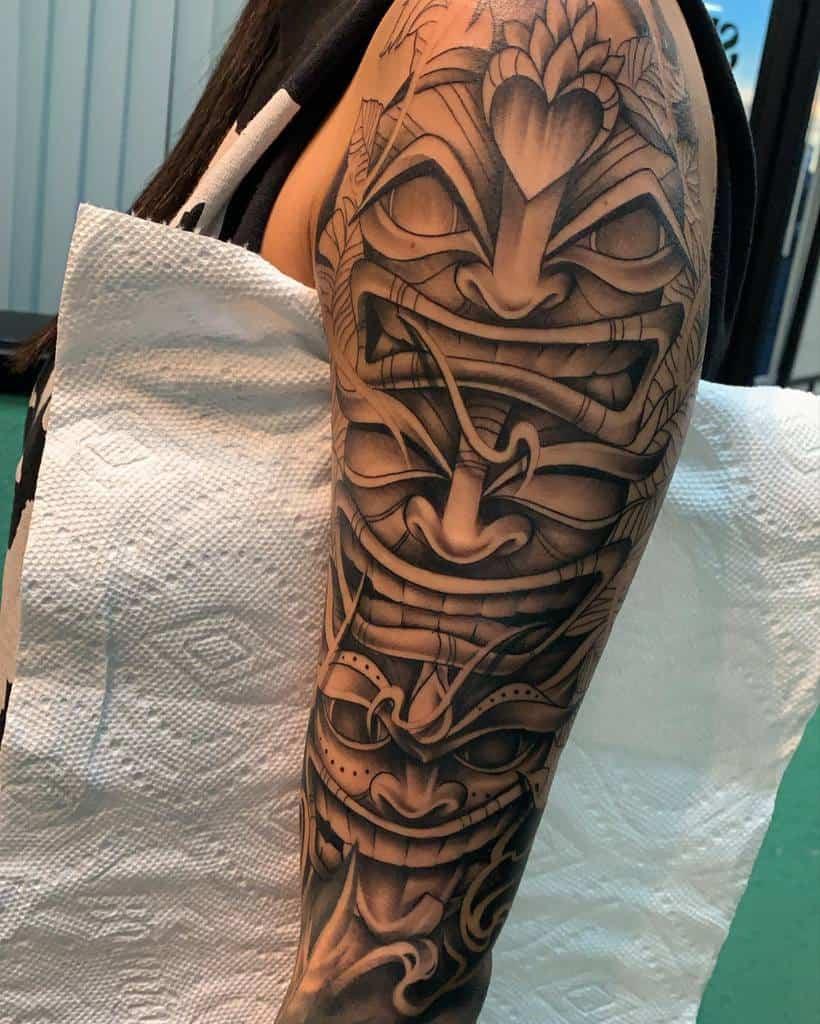 Arm Sleeve Tiki Tattoo Drizzy Inkk