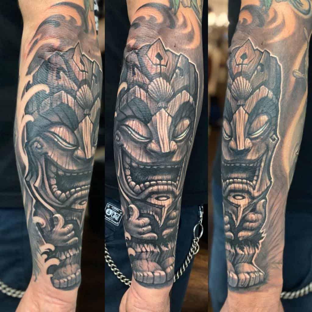 Arm Sleeve Tiki Tattoo Eugen.schreiner.stechwerk