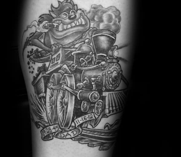 Arm Tasmanian Devil Mens Tattoo Designs
