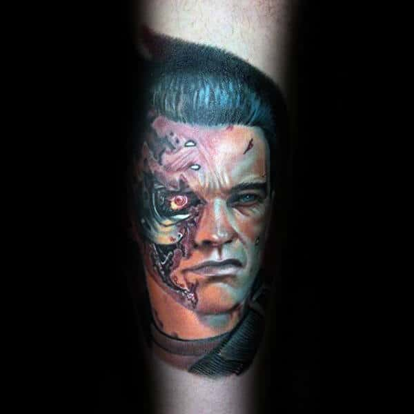 Arm Tattoo Of Terminator For Men