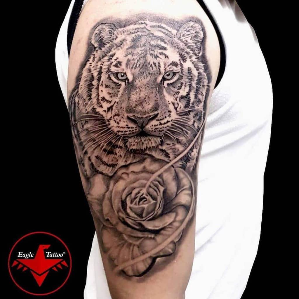 arm tiger rose tattoos eagle_tattoo_besiktas