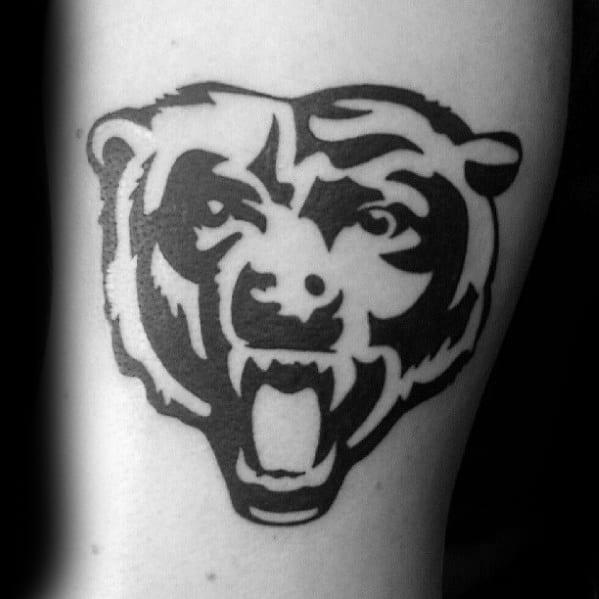Arm Tribal Chicago Bears Mens Tattoo Ideas