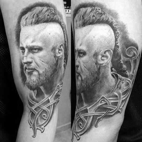 Arm Tribal Guys Ragnar Tattoo Design Ideas