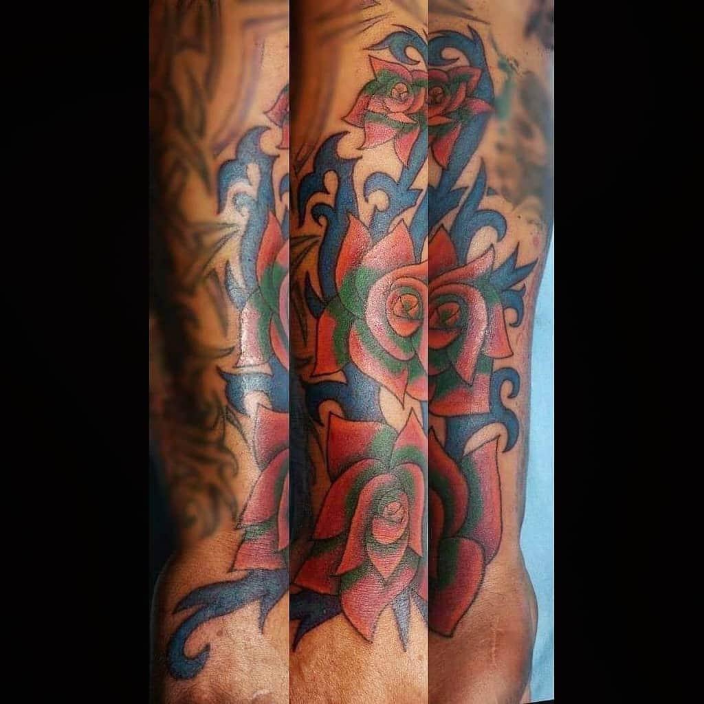 arm tribal rose tattoos orne.tattoo