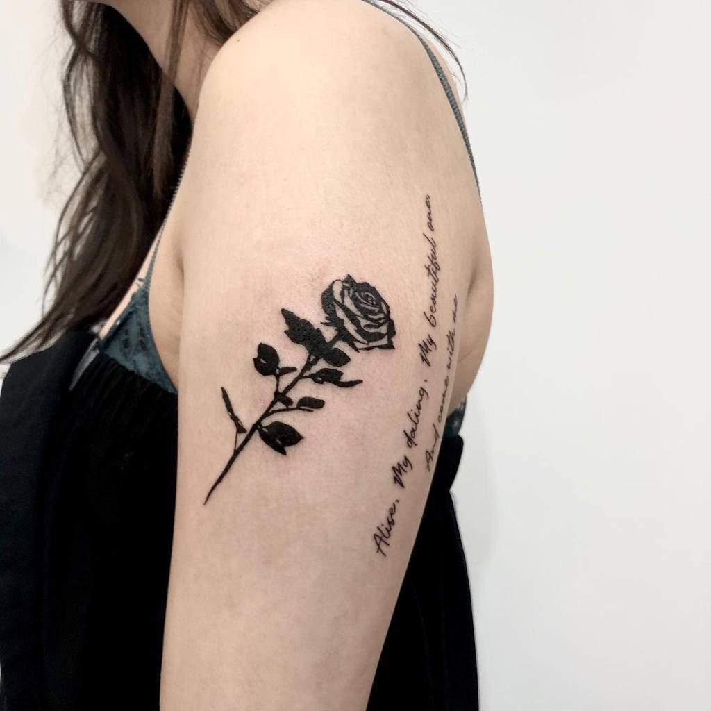 arm tribal rose tattoos ratatattoo_