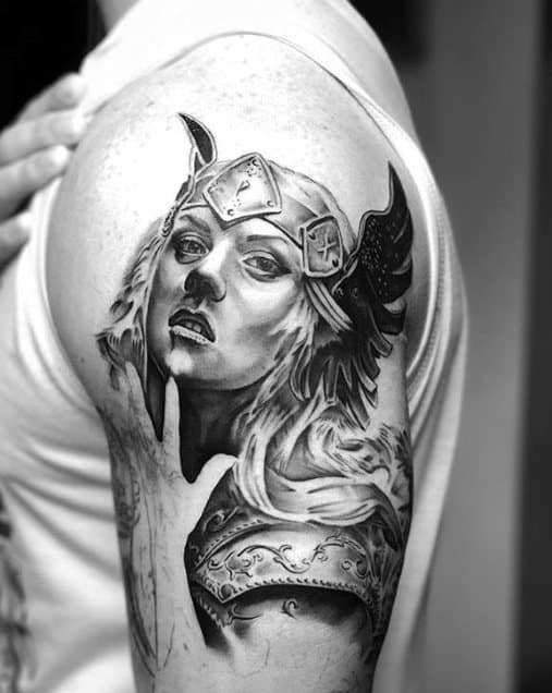 Arm Valkyrie Mens Tattoo Ideas