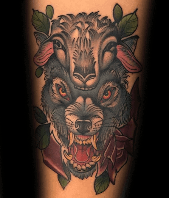 Arm Wolf In Sheeps Clothing Male Tattoos