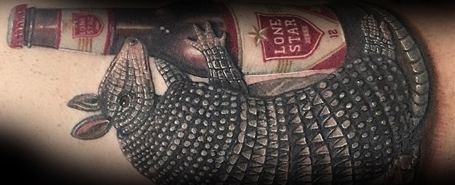50 Armadillo Tattoo Designs For Men – Armor Shell Ink Ideas
