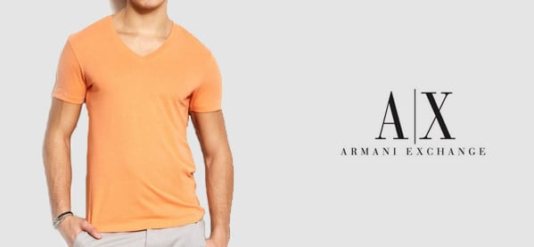Armani Exchange V Neck T-Shirts For Men