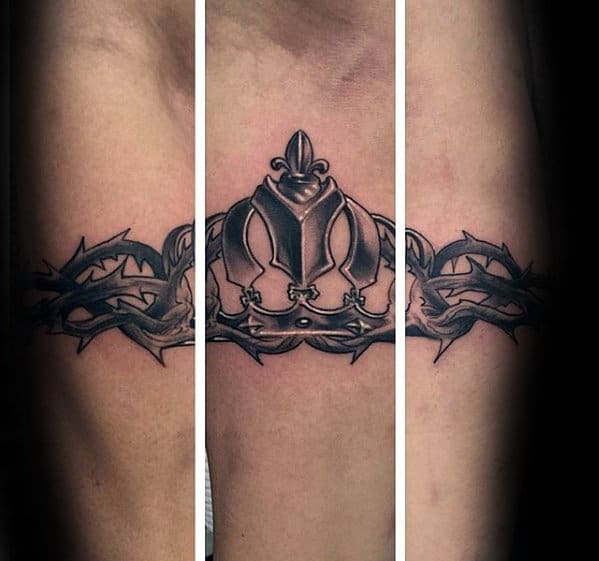 Armband Guys King Crown With Thorns Inner Forearm Tattoo