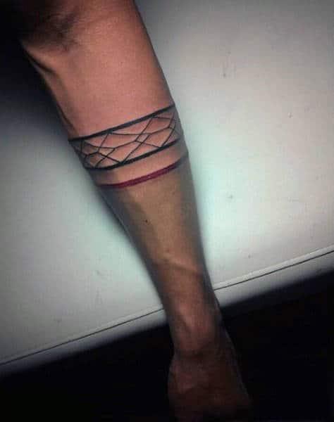 Armband Line Work Tattoo For Men