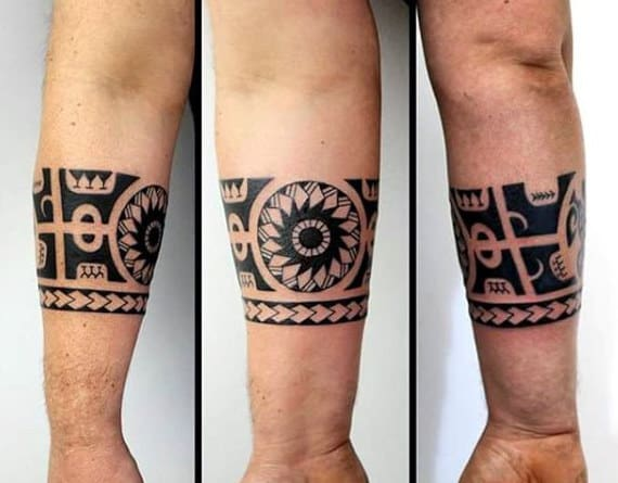 2dde04479ee94 60 Tribal Forearm Tattoos For Men - Manly Ink Design Ideas
