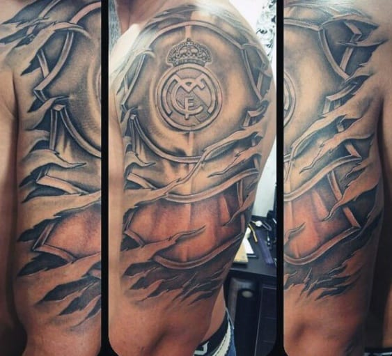 Armor Plate Real Madrid Guys Tattoos Half Sleeve
