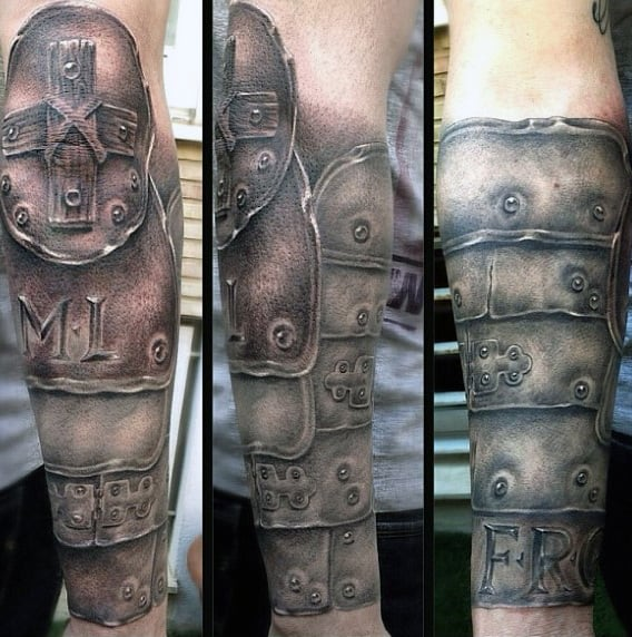 Armor Tattoo Designs Wrist For Males