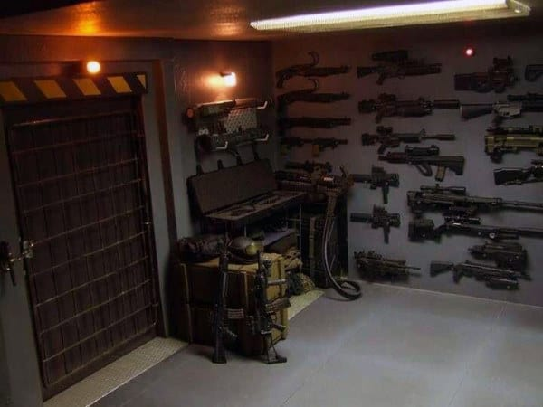 Armory Gun Room Valut Cement Floors