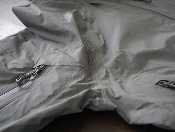 Armpit Construction Detail Mens Beyond Clothing K6 Arx Rain Jacket Seams