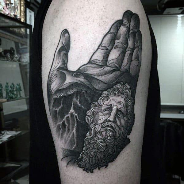 Arms Dark Greek God Tatoo For Men