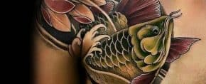 40 Arowana Tattoo Designs For Men – Fish Ink Ideas