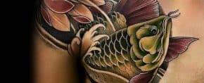 40 Arowana Tattoo Designs For Men – Fish Ink Ideas