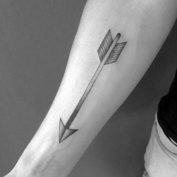 Arrow Simple Inner Forearm Tattoos For Men