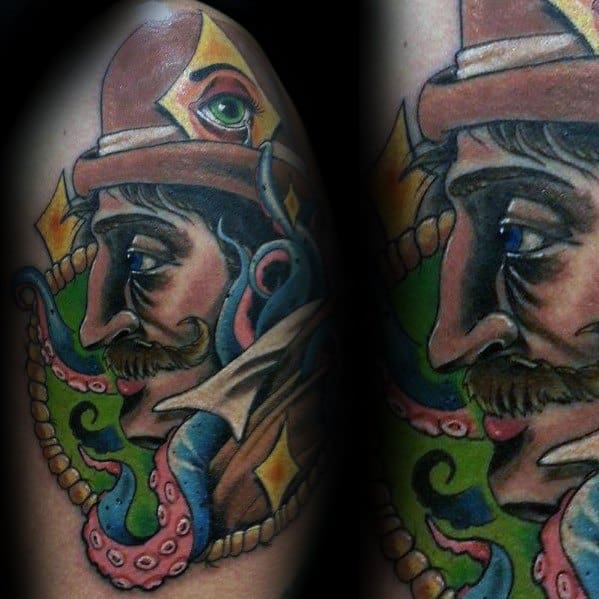 Artistic Arm Male Sherlock Holmes Tattoo Designs