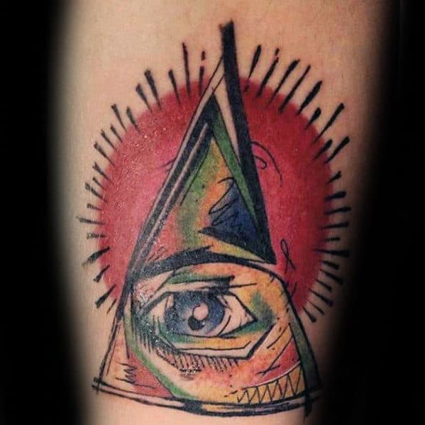 Artistic Eye Of Providence Mens Forearm Tattoo