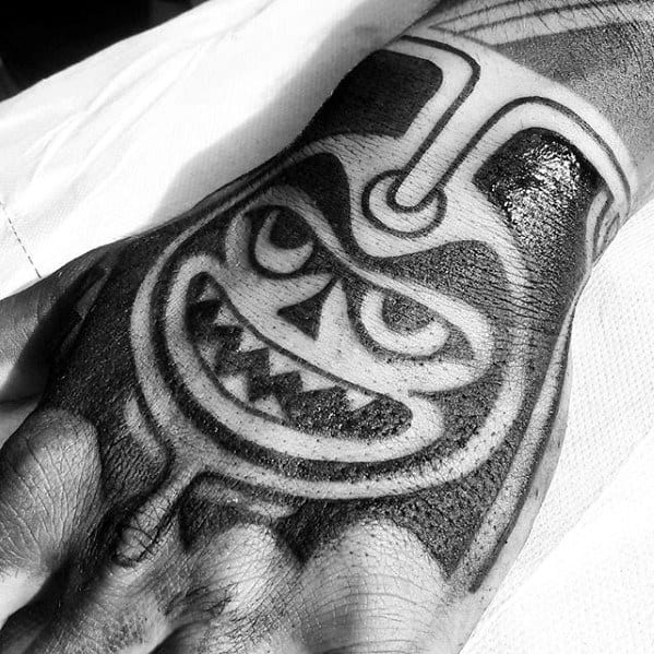 Artistic Male Badass Tribal Tattoo Ideas On Hand