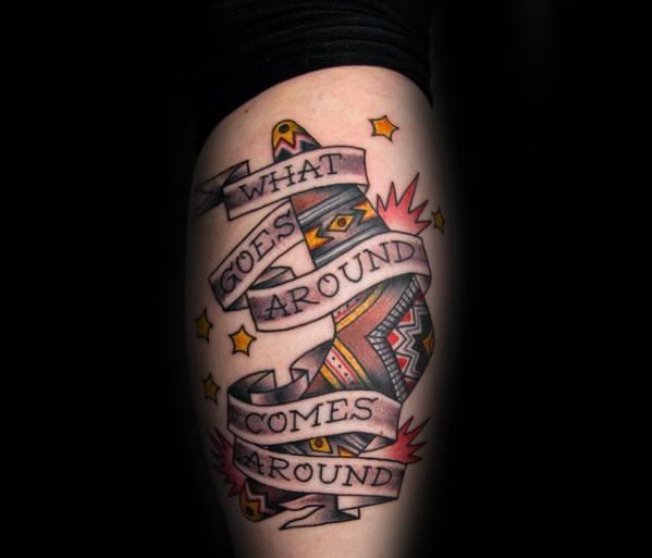 Artistic Male Boomerang Tattoo Ideas