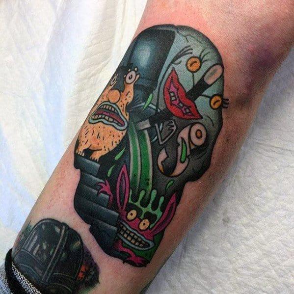 Artistic Male Cartoon Tattoo Ideas