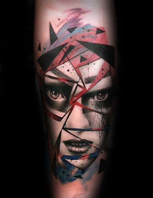 Artistic Male Consciousness Tattoo Ideas On Inner Forearm
