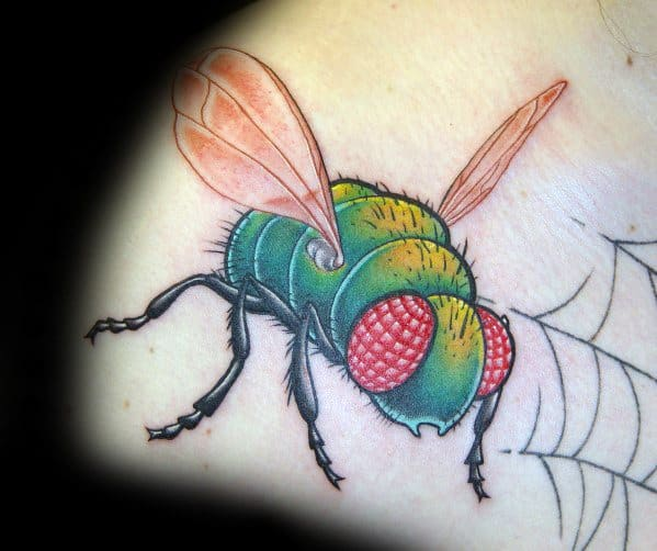 50 fly tattoo designs for men insect ink ideas. Black Bedroom Furniture Sets. Home Design Ideas