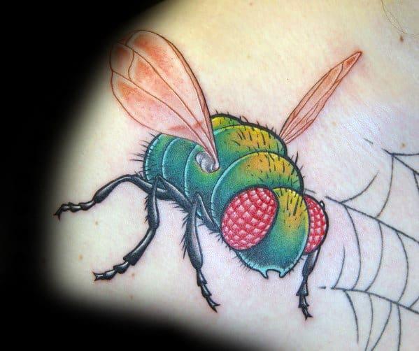 Artistic Male Fly Tattoo Ideas