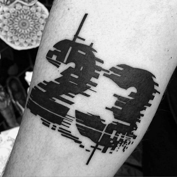 Artistic Male Glitch Tattoo Ideas