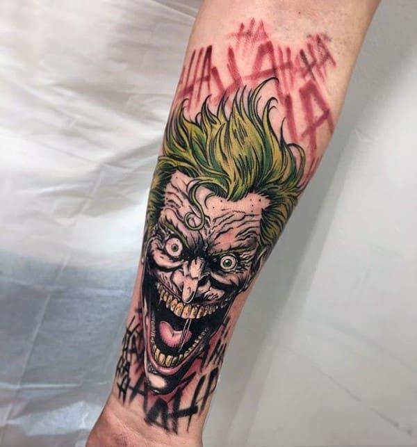 90 joker tattoos for men iconic villain design ideas for The joker tattoo