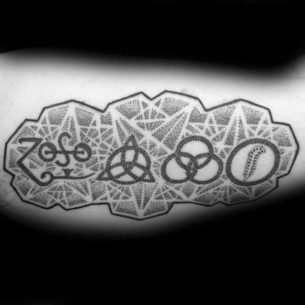 Artistic Male Led Zeppelin Tattoo Ideas