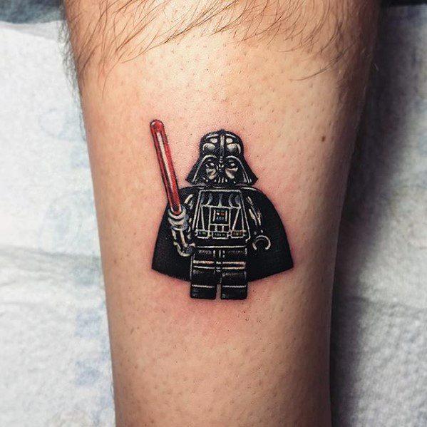 Artistic Male Lego Tattoo Ideas