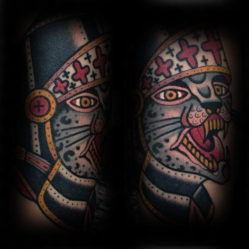 Artistic Male Snow Leopard Tattoo Ideas