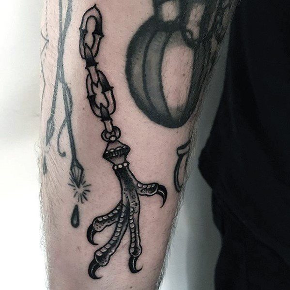 Artistic Male Talon Tattoo Ideas On Outer Forearm