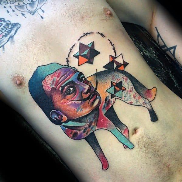 Artistic Male Trippy Tattoo Ideas