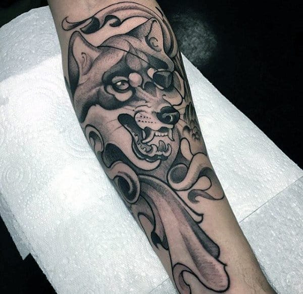 40 Wolf Forearm Tattoo Designs For Men