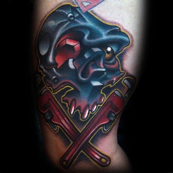 Artistic Male Wrench Tattoo Ideas