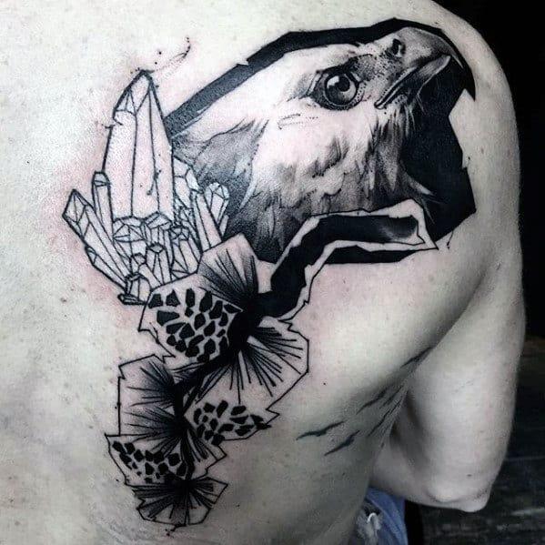 Artistic Mens Eagle Back Tattoos